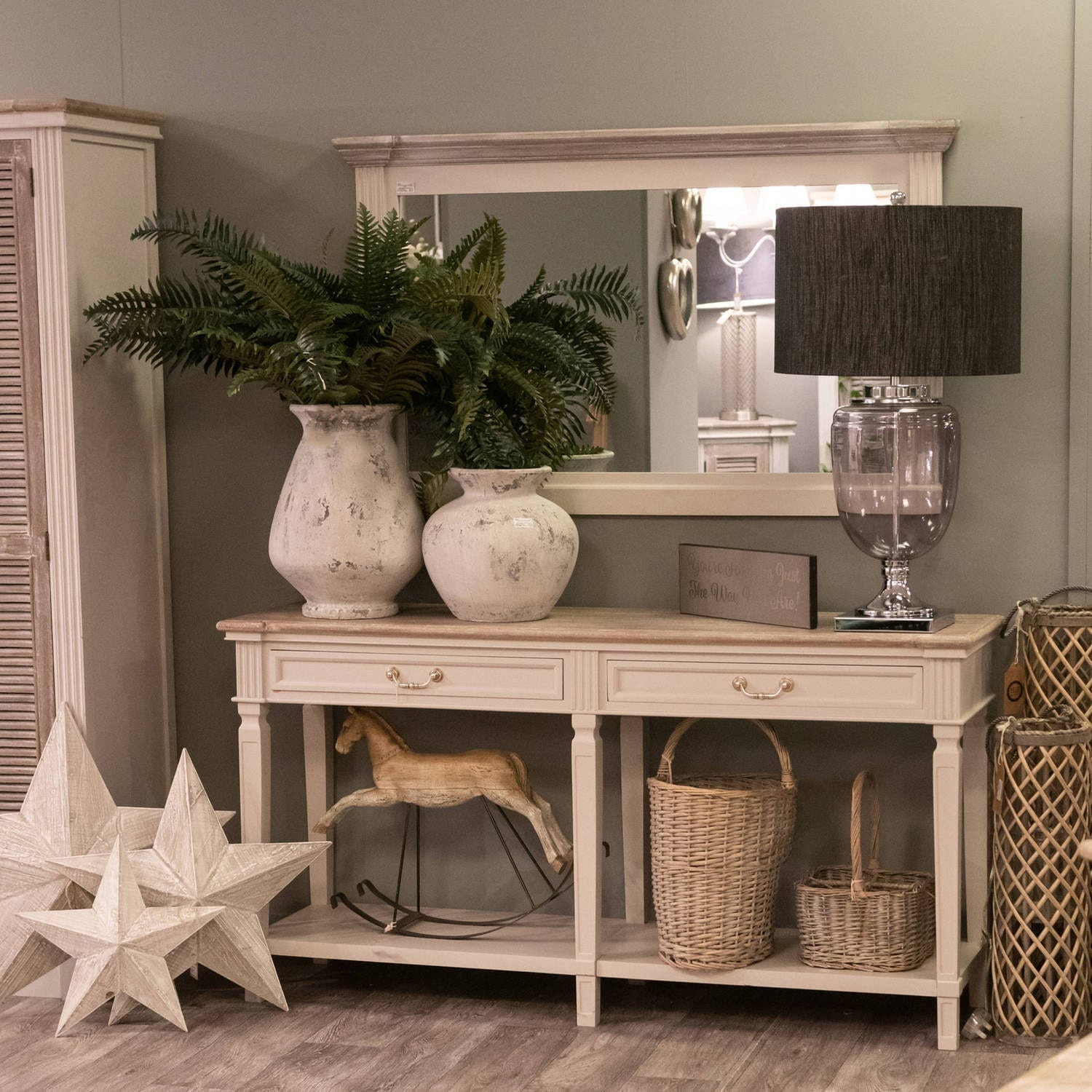 Honfleur 2 Drawer Hall Table With Shelf