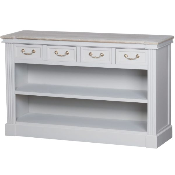 Honfleur Four Drawer Low Bookcase