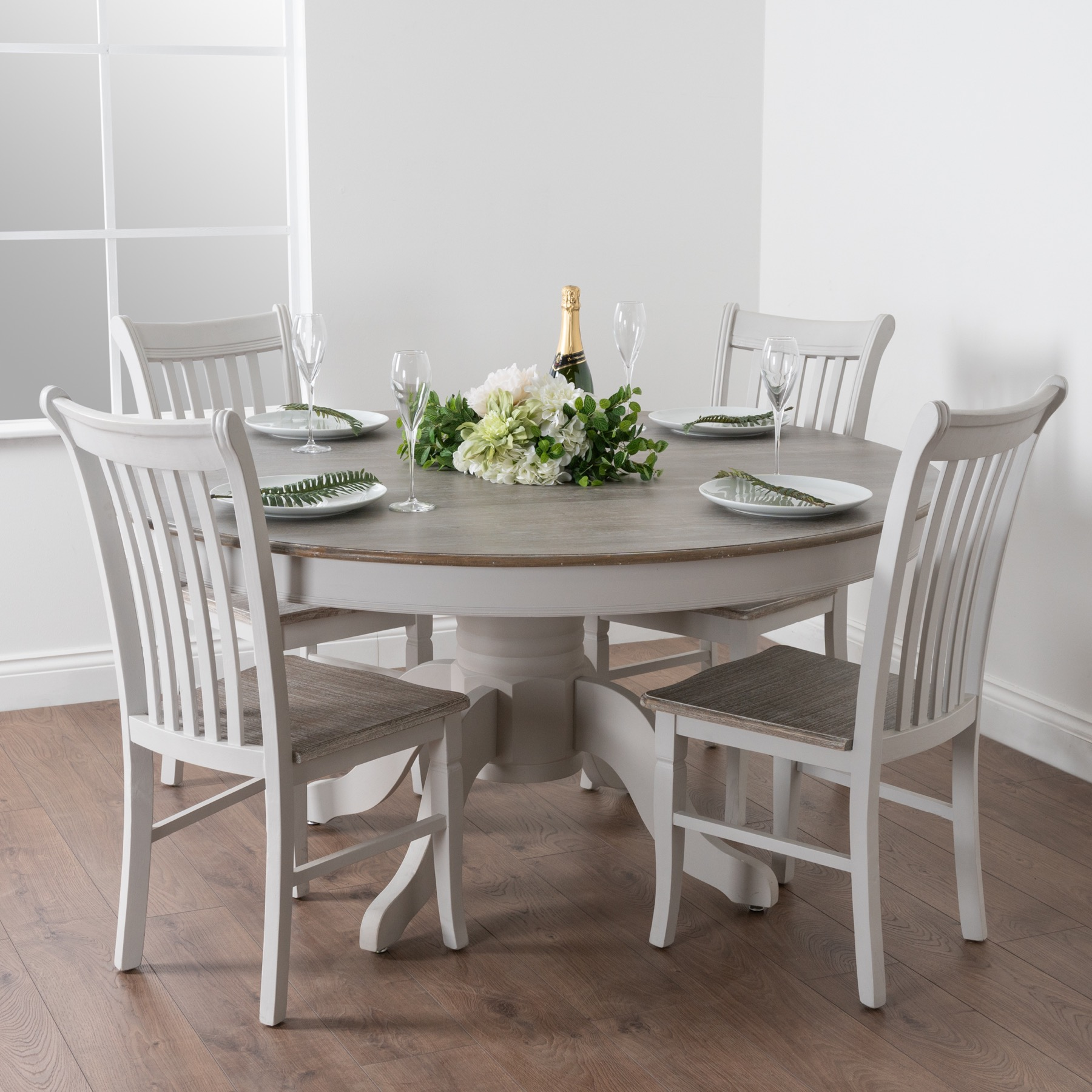 Large Round Dining Table, Round Kitchen Tables And Chairs Uk
