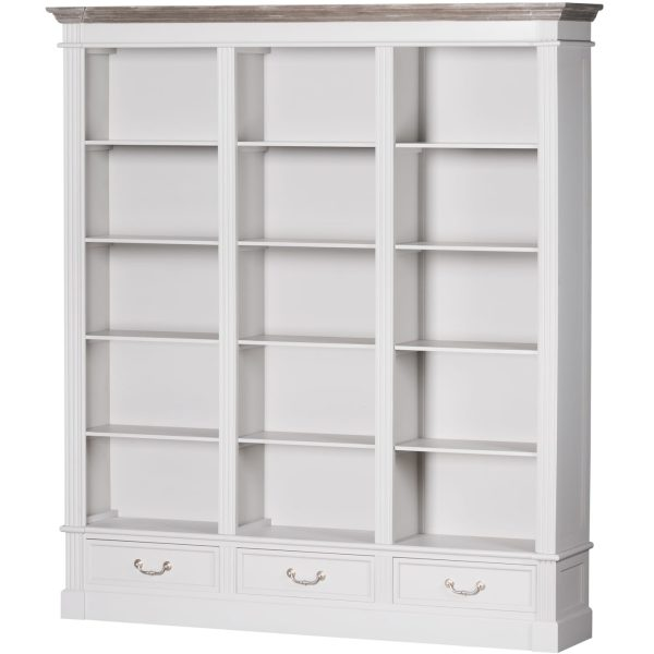 Honfleur Large Three Drawer Display Bookcase