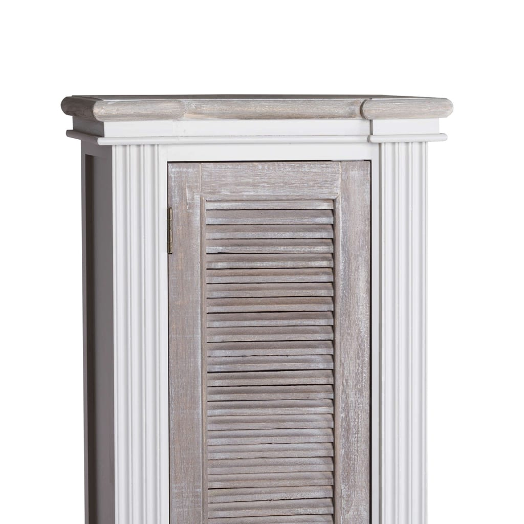 Honfleur Tall Cabinet With Louvred Doors 2