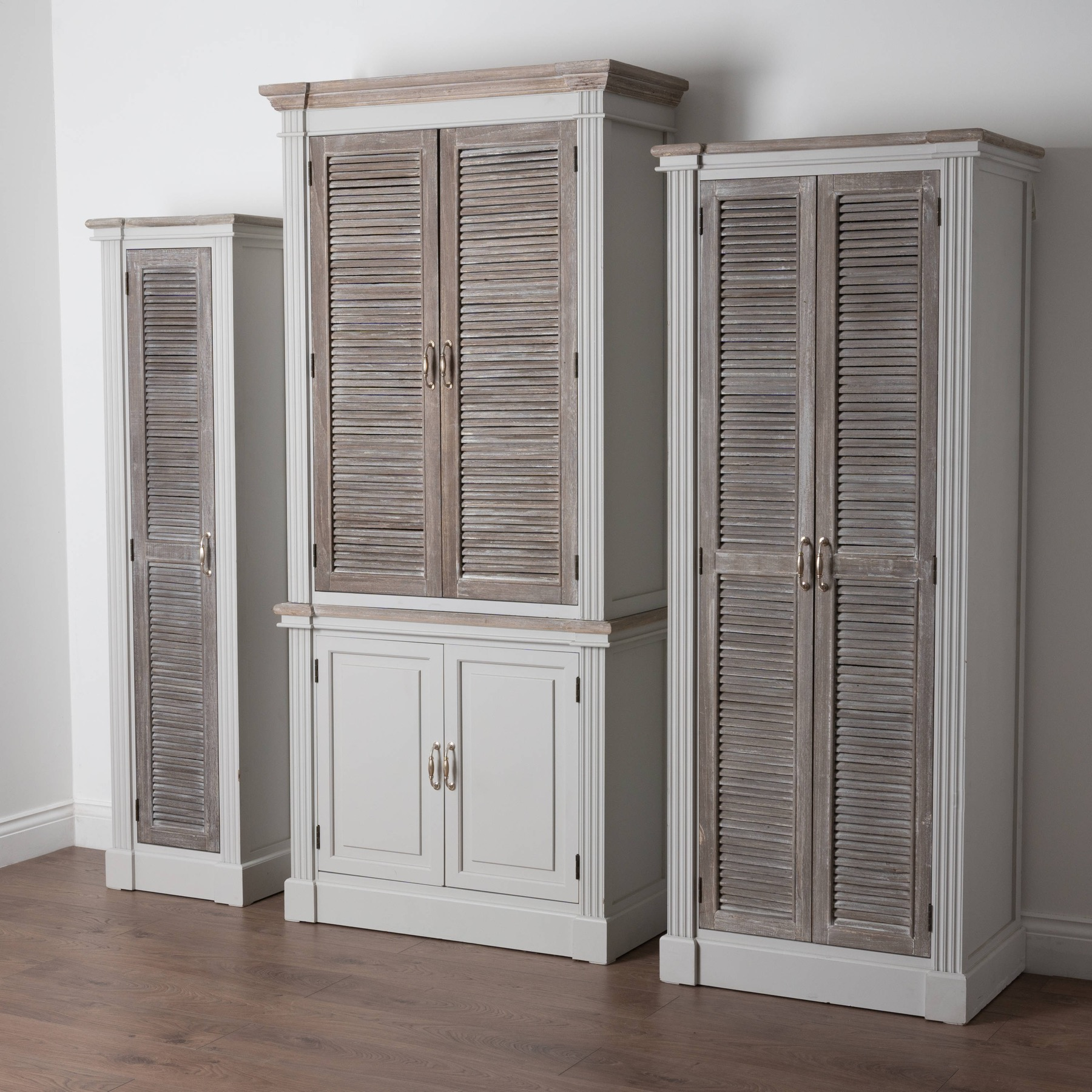 Honfleur Tall Cabinet With Louvred Doors