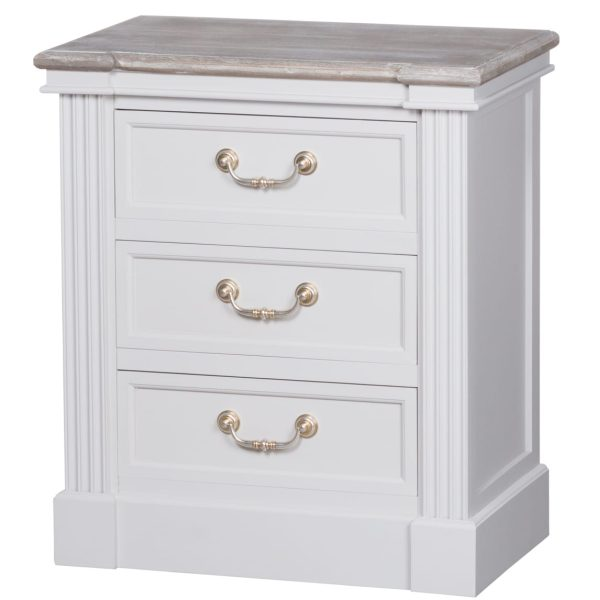 Honfleur Three Drawer Bedside