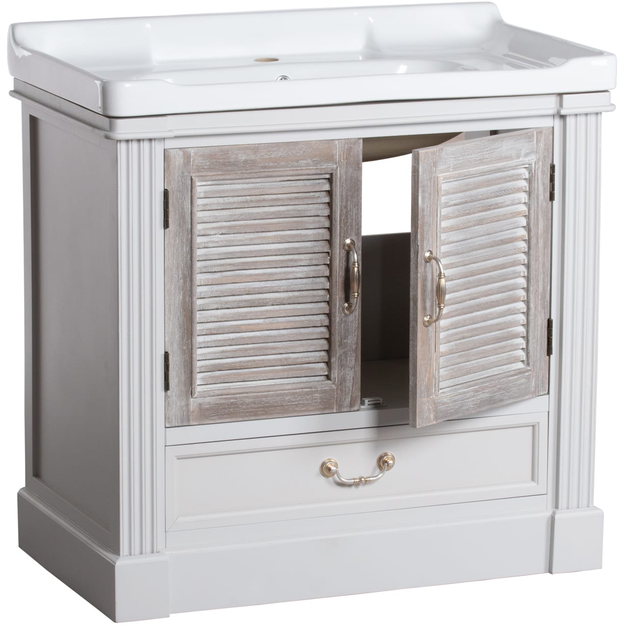 Honfleur Vanity Sink Unit With Louvred Doors