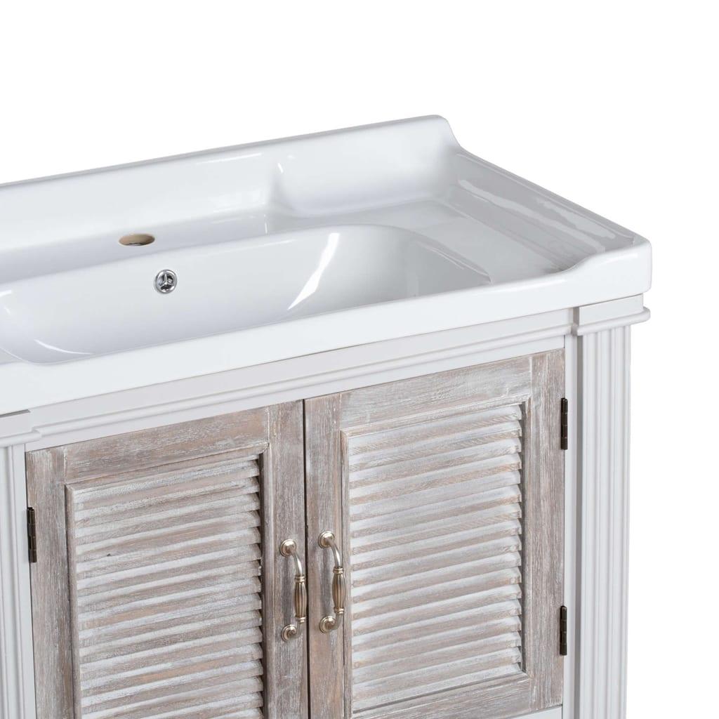 Honfleur Vanity Sink Unit With Louvred Doors