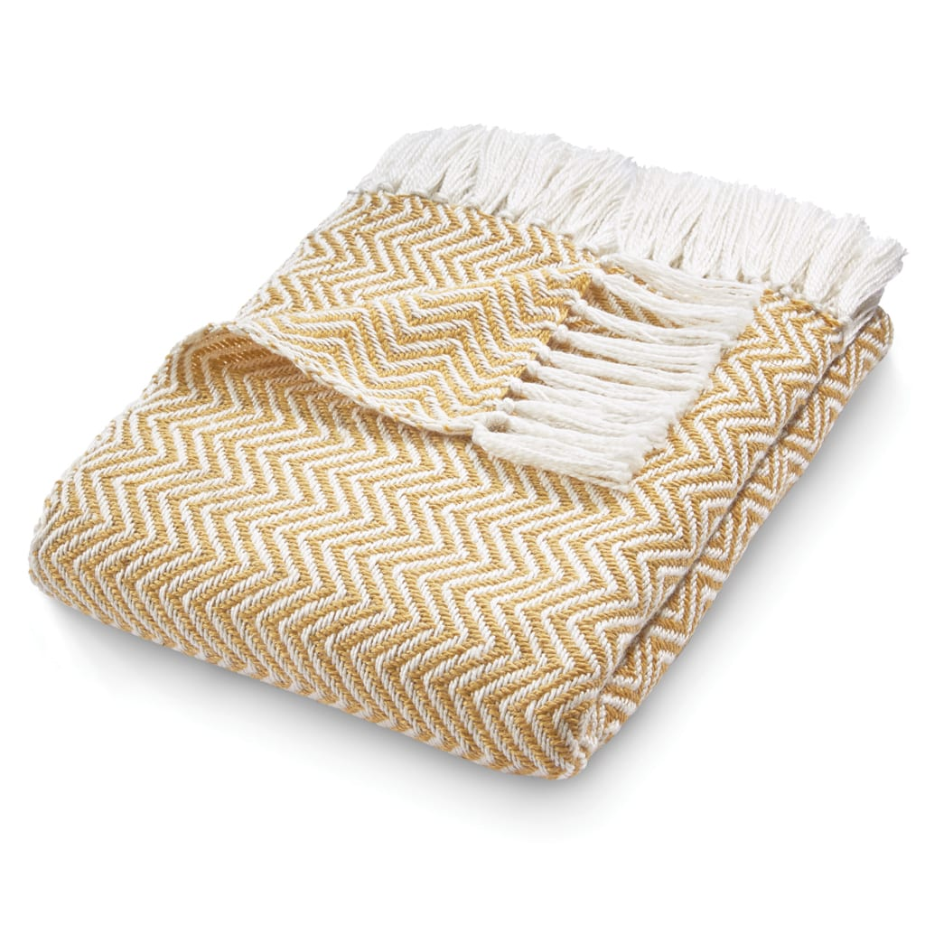 Herringbone Gold Throw