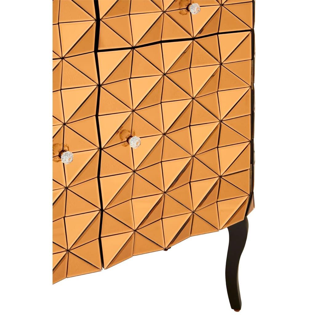 Hoxton Copper Finish Cabinet