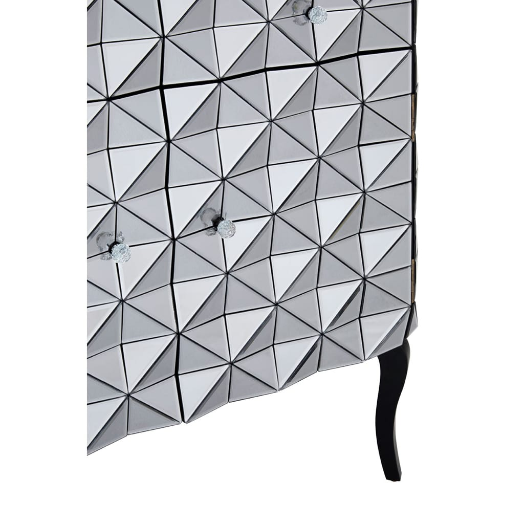 Hoxton Silver Finish Cabinet