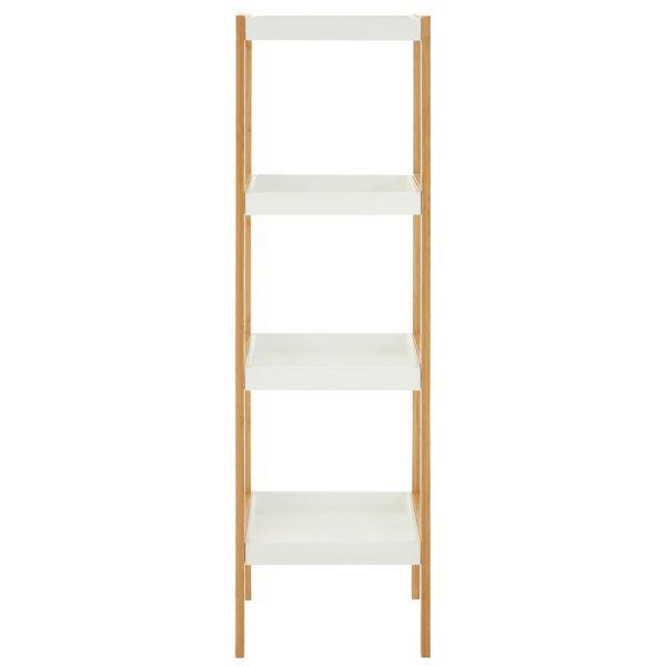 Onze Five Tier White Bamboo Shelf Unit