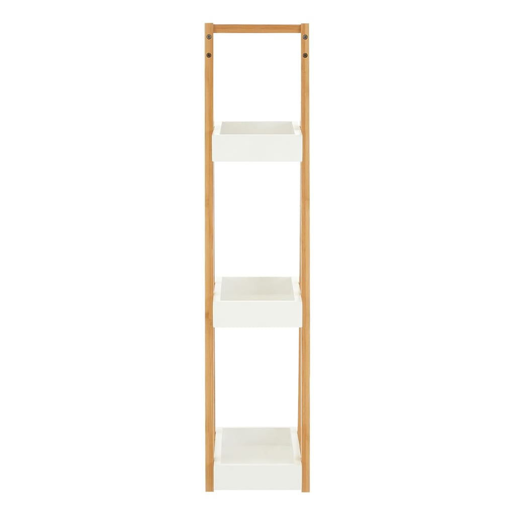 Onze Three Tier White Bamboo Shelf Unit