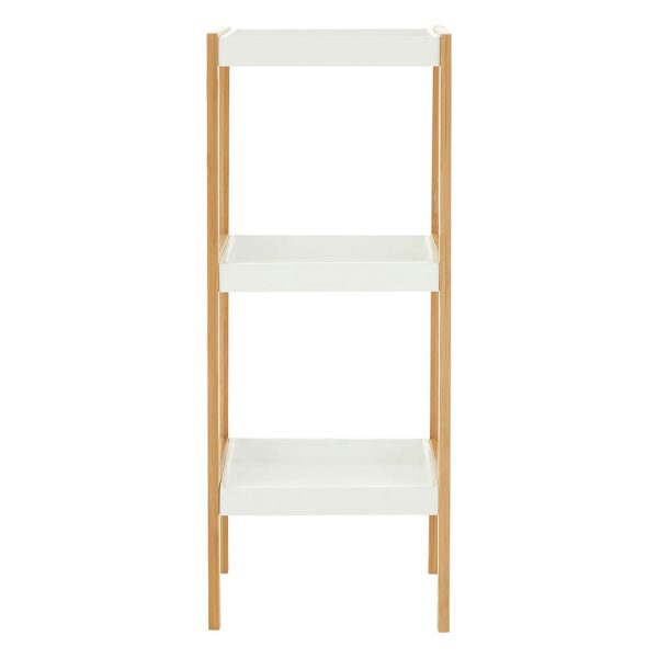 Onze Three Tier White Natural Shelf Unit