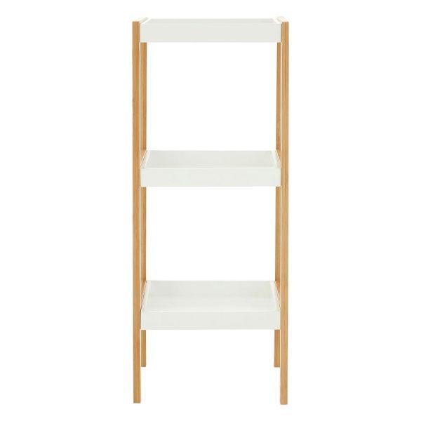 Onze Three Tier White Natural Shelf Unit