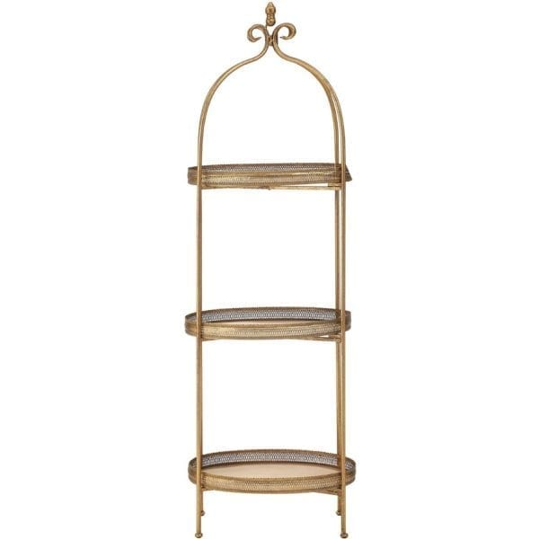 Rida Ornate Three Tier Tray Shelves