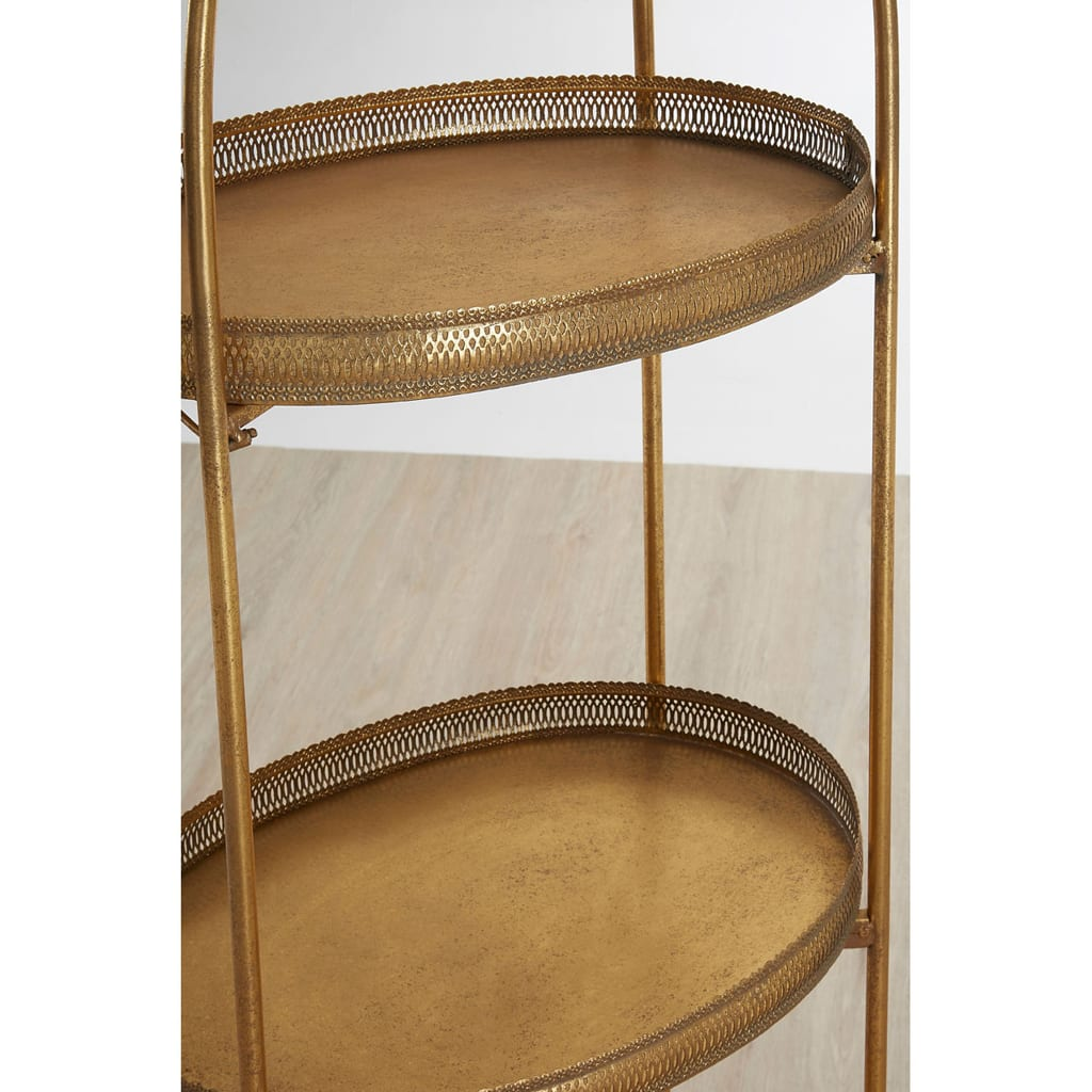 Rida Ornate Three Tier Tray Shelves