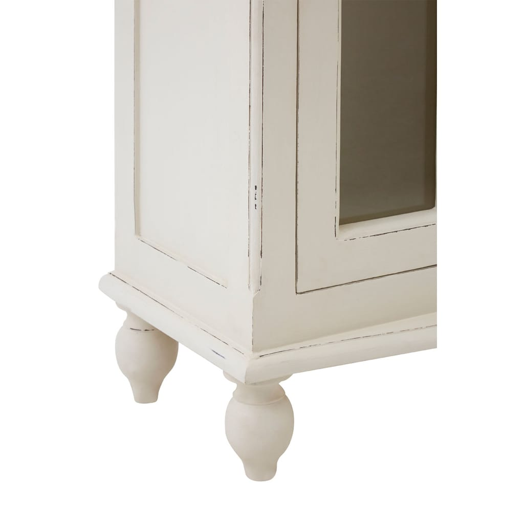 Bourges 1 Door White Panelled Display Unit