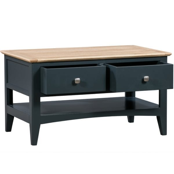 Evelyne Blue 2 Drawer Coffee Table