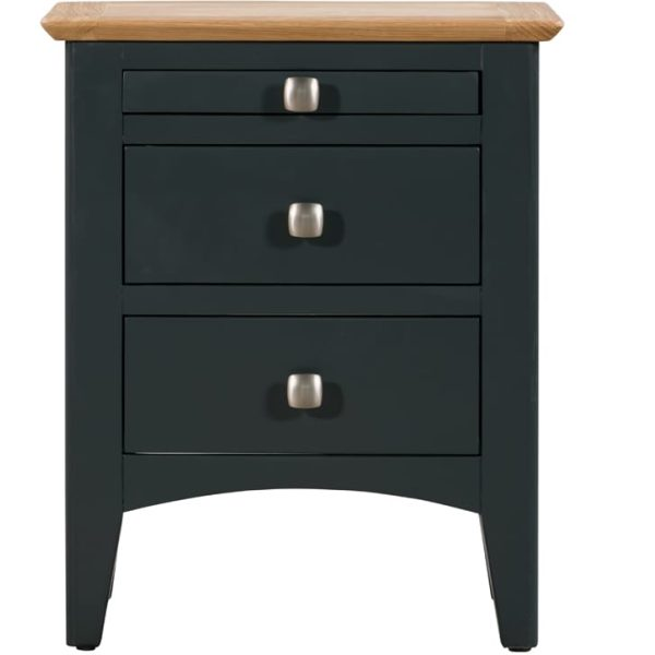 Evelyne Blue Bedside 3 Drawers