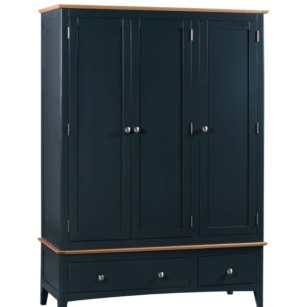 Evelyne Blue Triple Wardrobe