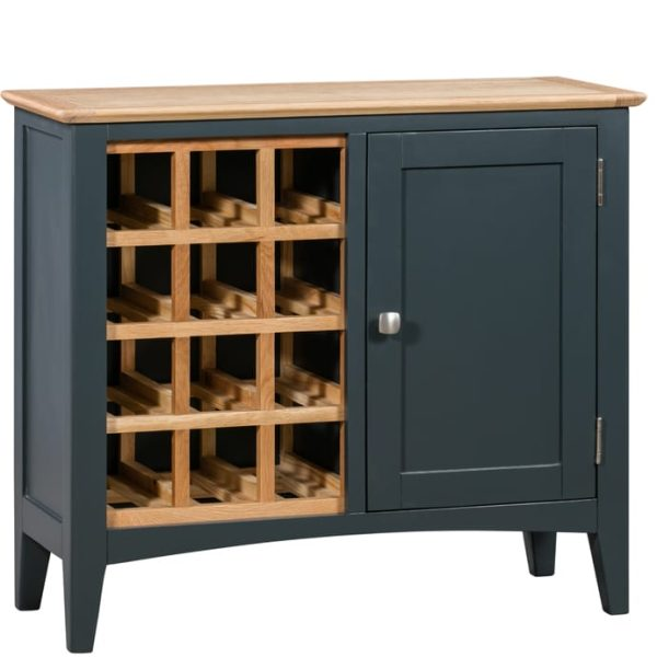 Evelyne Blue Wine Cabinet