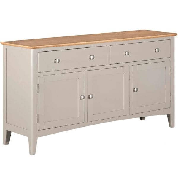 Evelyne Grey 3 Door Sideboard