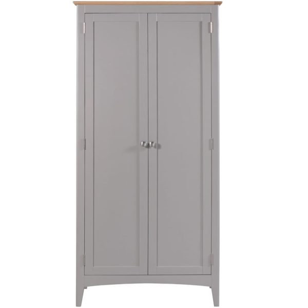 Evelyne Grey Full Hanging Wardrobe