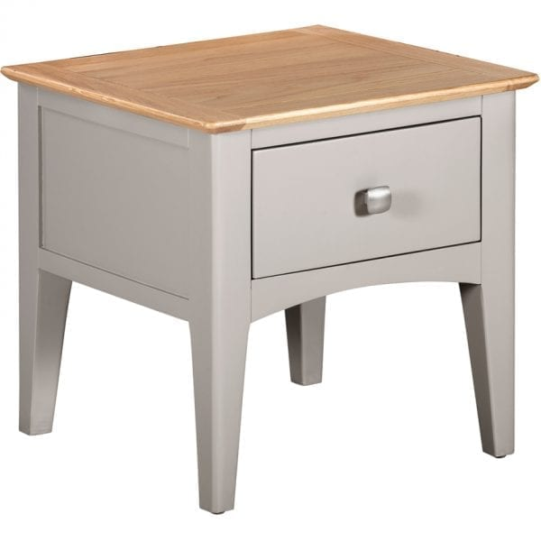 Evelyne Grey Lamp Table With Drawer