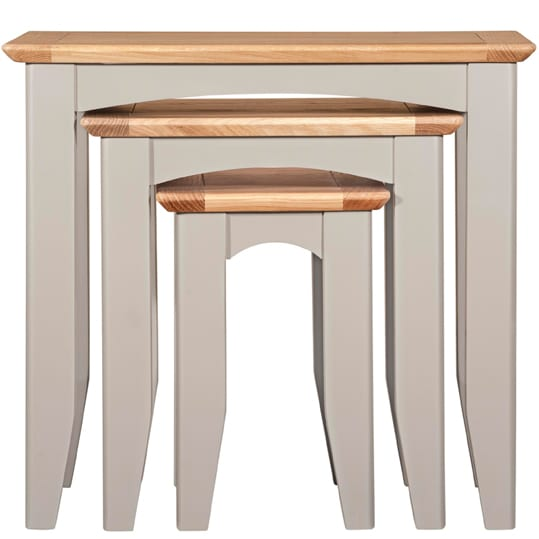 Evelyne Grey Nest of 3 Tables