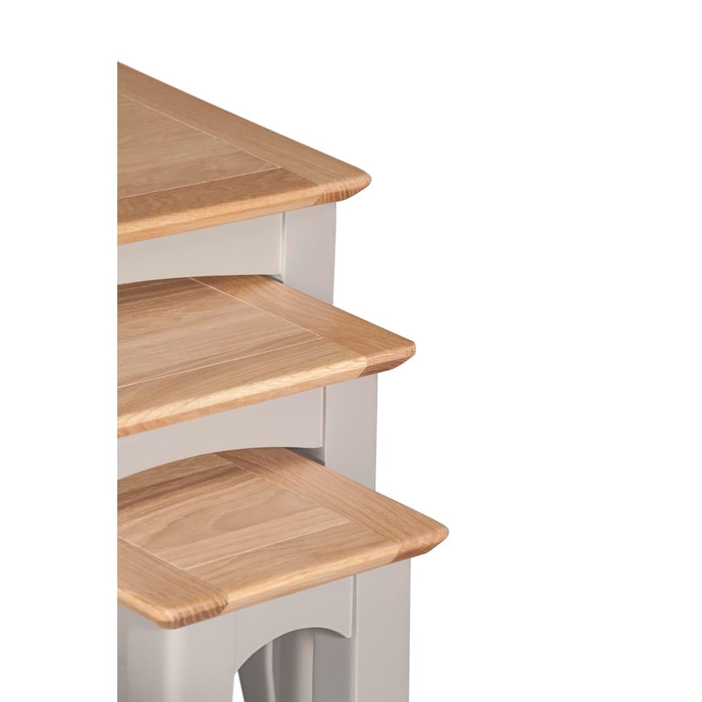 Evelyne Grey Nest of 3 Tables