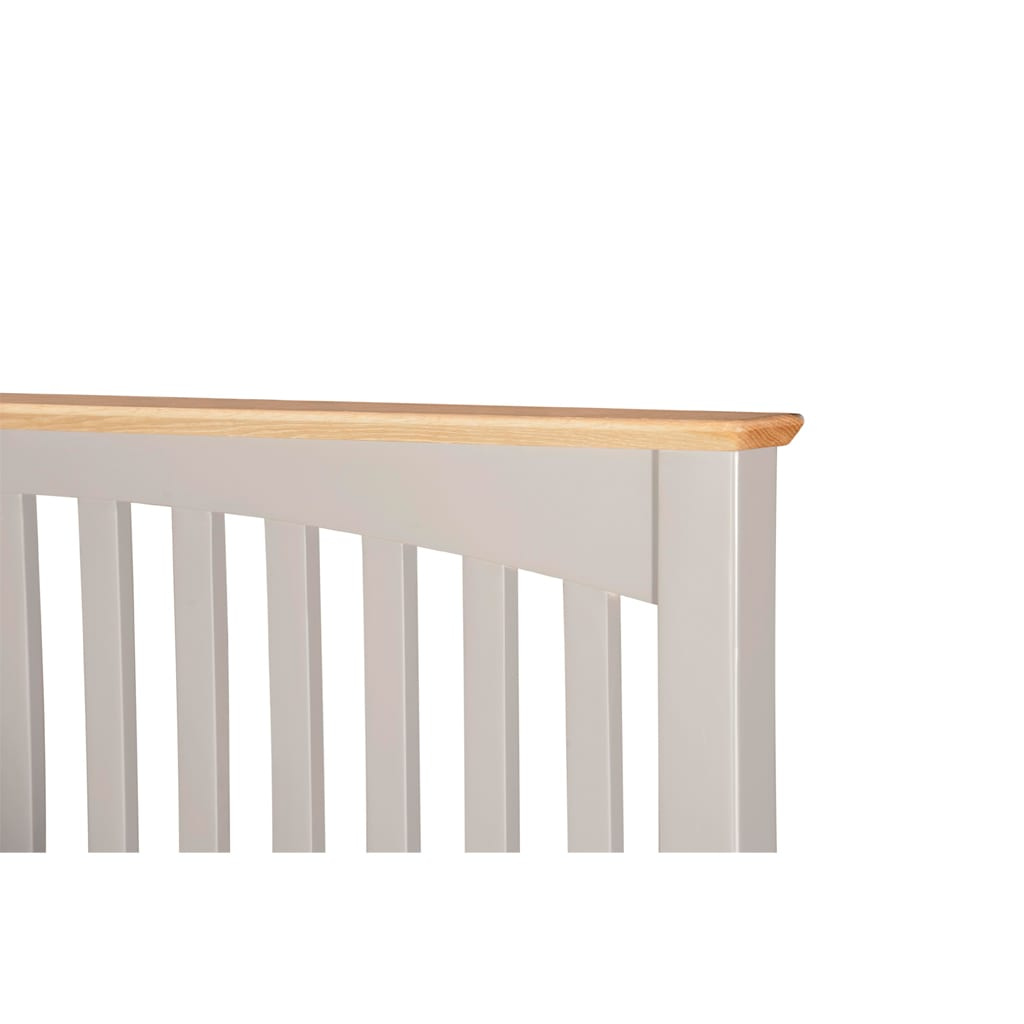 Evelyne Grey Slatted Bed