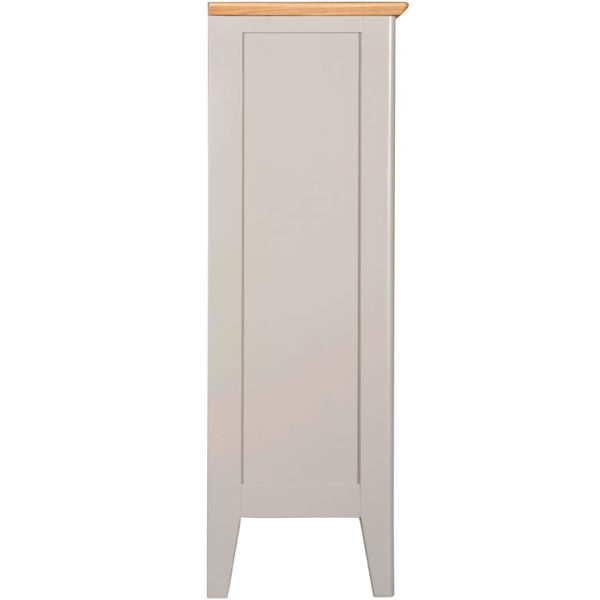 Evelyne Grey Small Bookcase