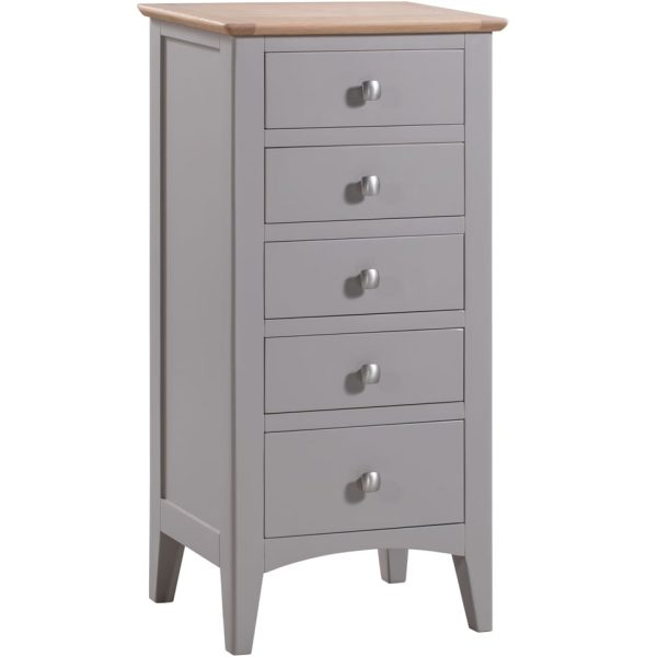 Evelyne Grey Tall Chest of Drawers