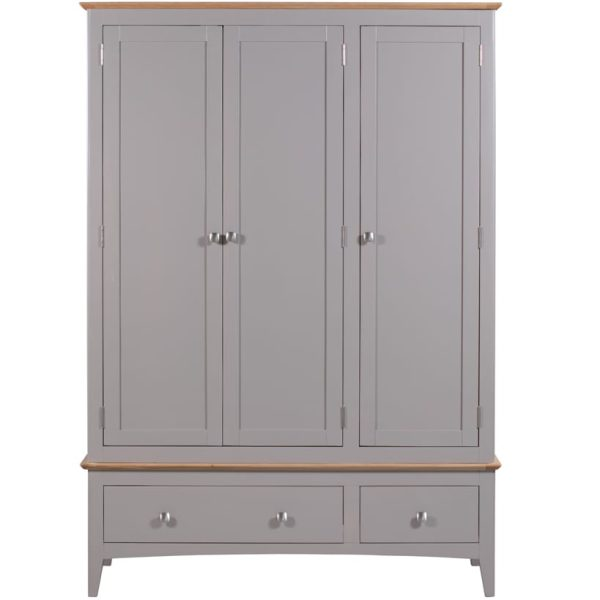 Evelyne Grey Triple Wardrobe