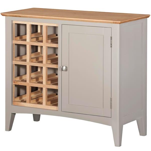 Evelyne Grey Wine Rack