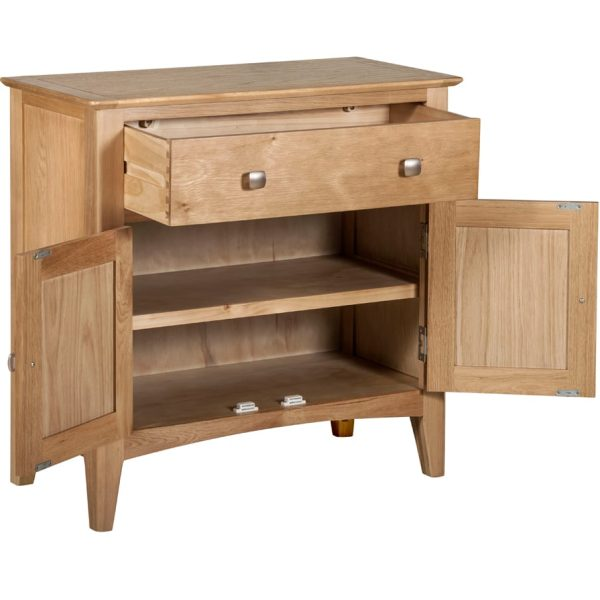 Evelyne Natural 2 Door 1 Drawer Cupboard