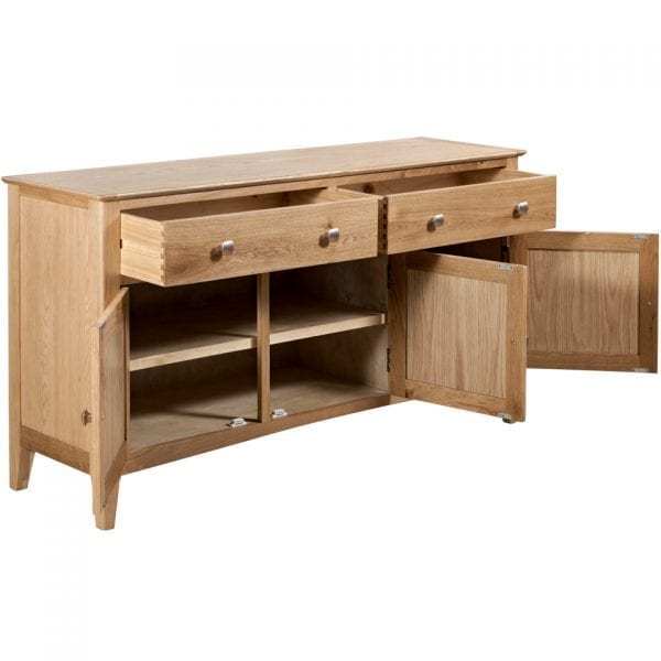 Evelyne Natural 3 Door Sideboard