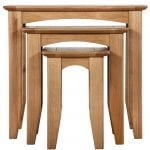 Evelyne Natural Nest of 3 Tables