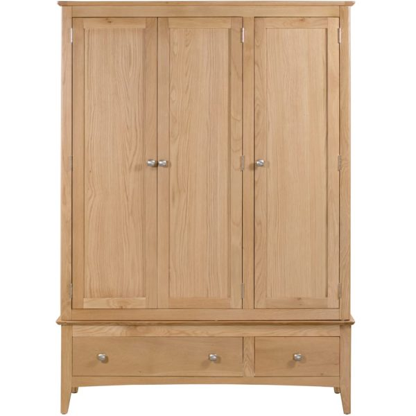 Evelyne Natural Triple Wardrobe