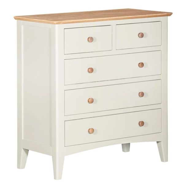 Evelyne White 2 Over 3 Drawers