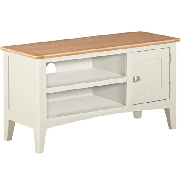 Evelyne White Small TV Unit