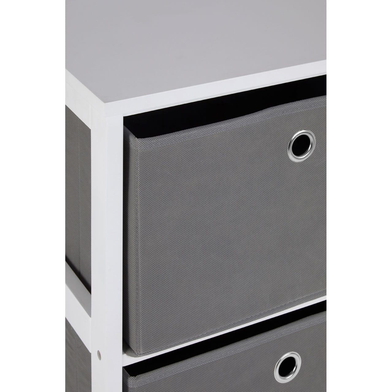 Lando 2 Drawer Grey Fabric Cabinet