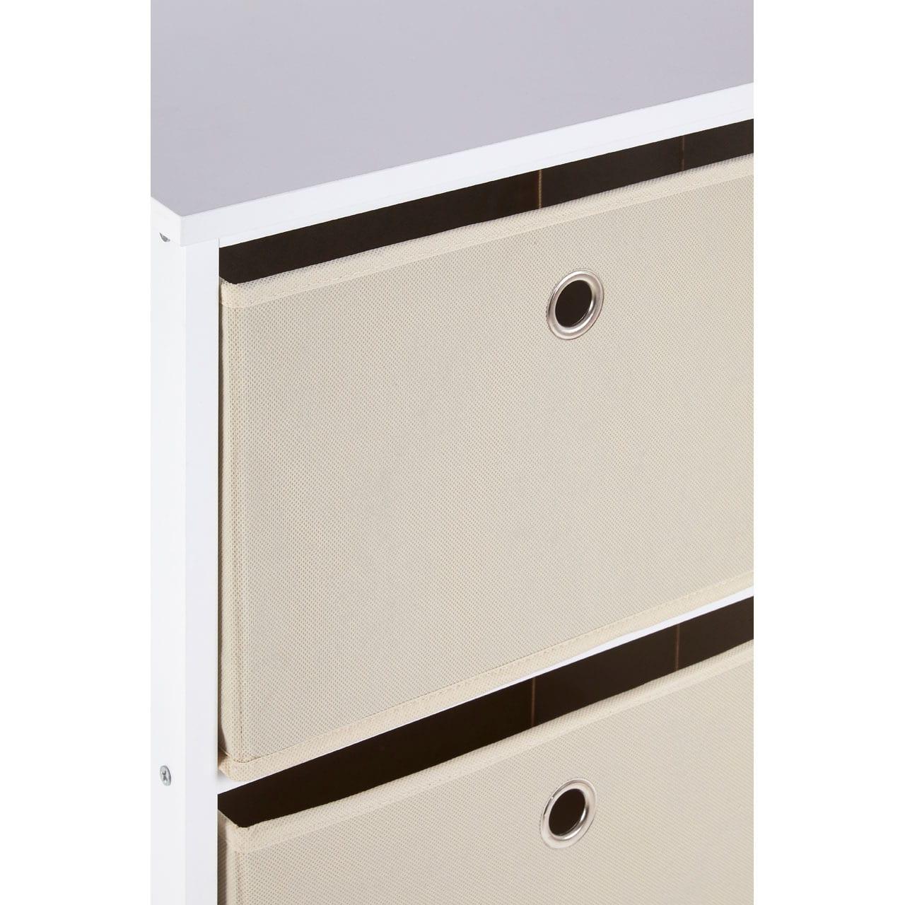 Lando 3 Drawer Natural Fabric Cabinet