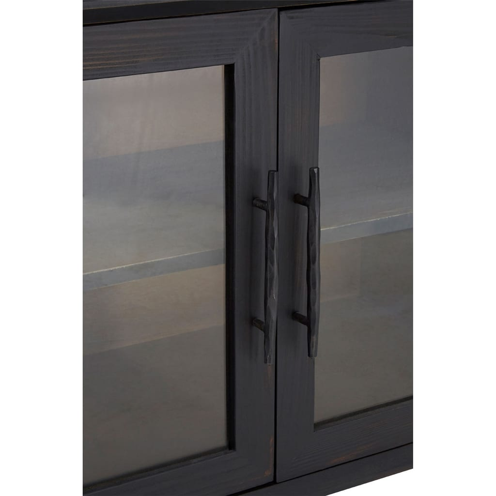 Madison 3 Drawer 2 Glass Door Cabinet