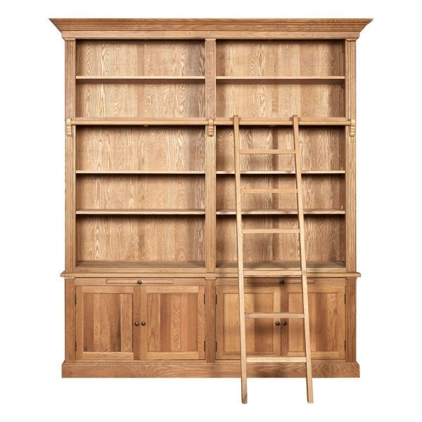 Rouen 2 Section Bookcase With Ladder
