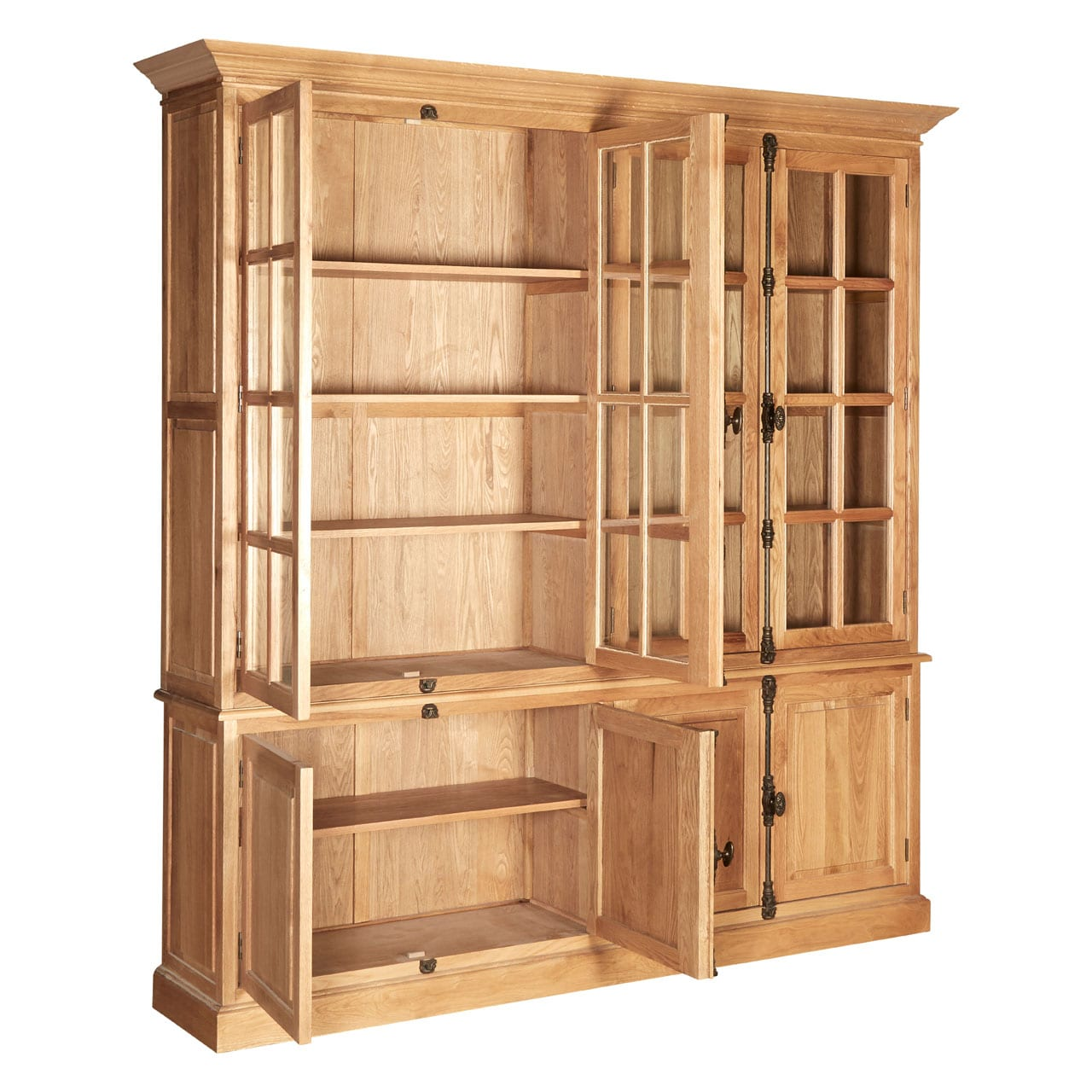 Rouen Cabinet With 6 Upper Shelves