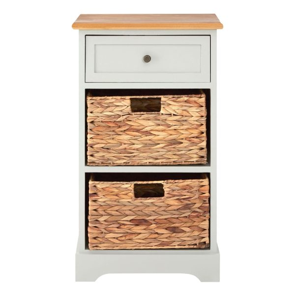 Rutland Grey 3 Drawer Cabinet
