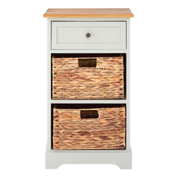 Rutland Grey 3 Drawer Cabinet