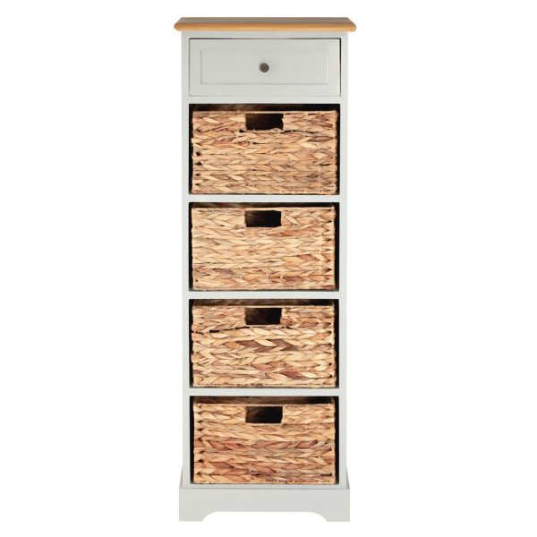 Rutland Grey 5 Drawer Cabinet