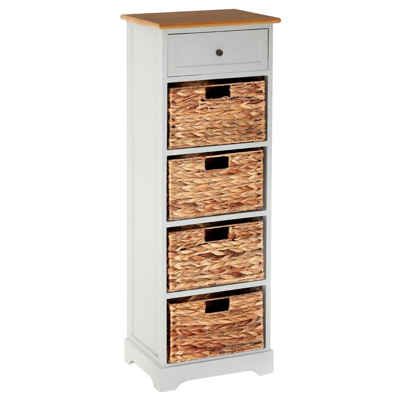 Rutland Grey 5 Drawer Cabinet