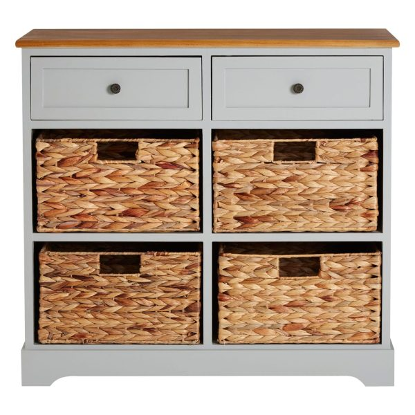 Rutland Grey 6 Drawer Cabinet