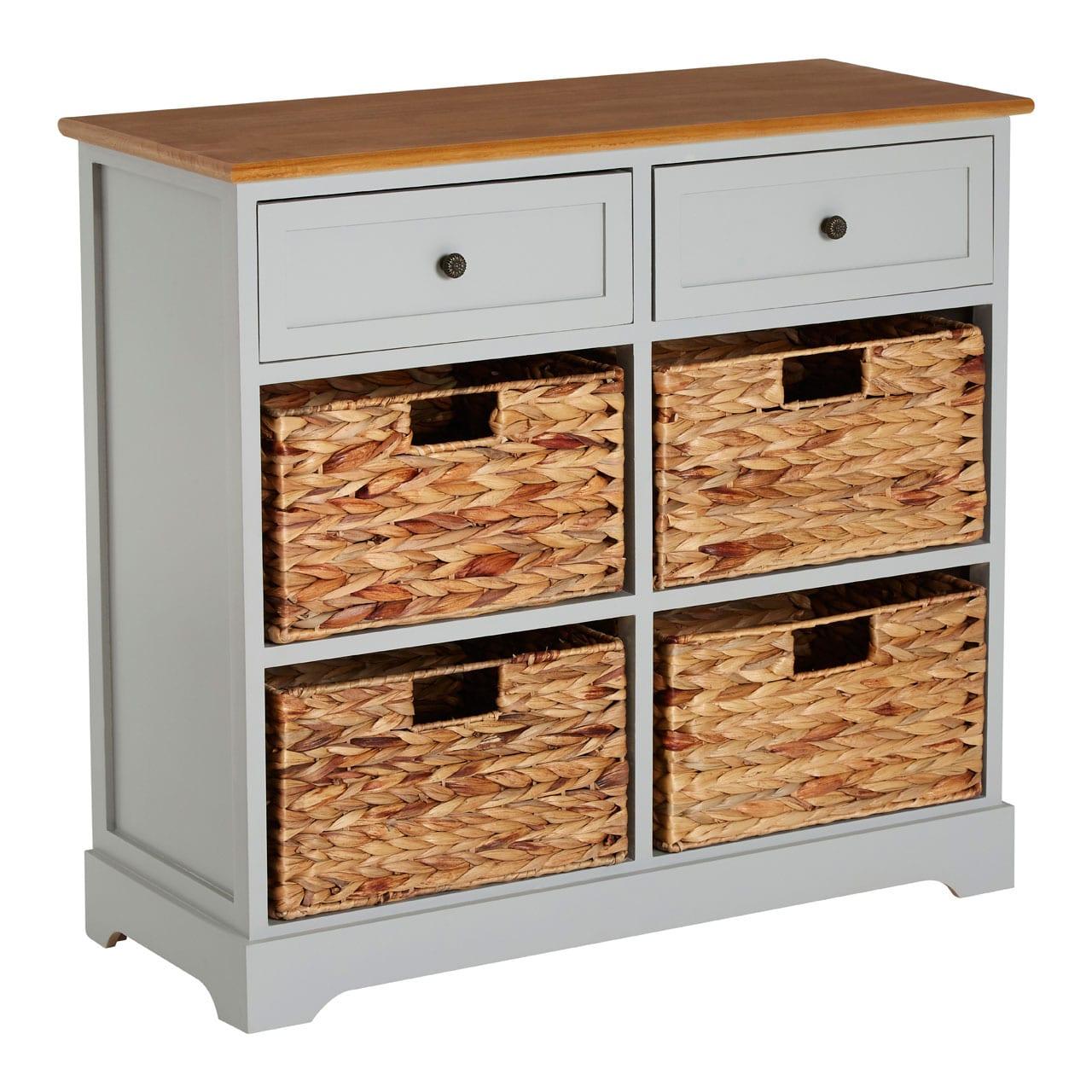 Rutland Grey 6 Drawer Cabinet